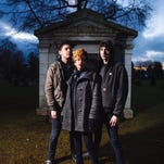 """Thermals front man Hutch Harris, left, with Kathy Foster and Westin Glass. """"This record is about relationships I've been in that have failed,"""" Harris says of the band's new album, """"We Disappear."""""""