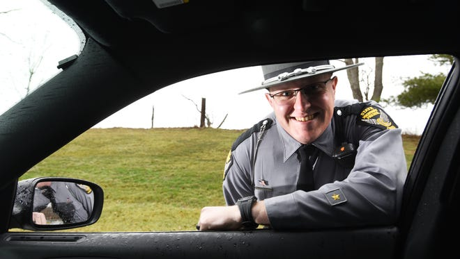 Muskingum County native Trooper Jordan Butler has been named Trooper of the Year for the Zanesville Post of the State Highway Patrol.