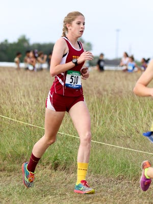 Tuloso-Midway's Madison Bennett looks strong mid-race at the Region IV Cross Country Meet on Saturday, October 29th at the Dr. Jack A. Dugan Stadium in Corpus Christi.