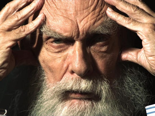 "James Randi in a scene from the documentary ""An Honest"