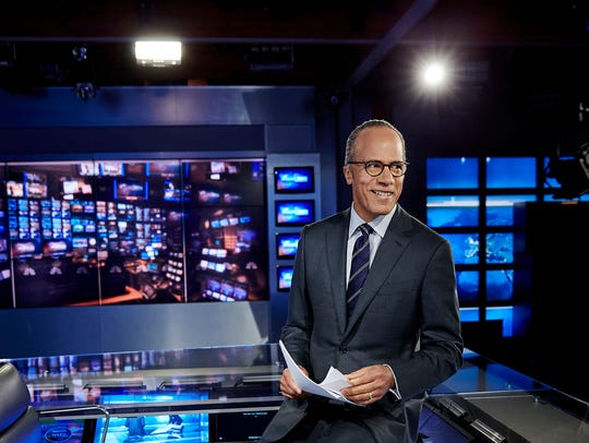 "Lester Holt was named anchor of ""NBC Nightly News"""