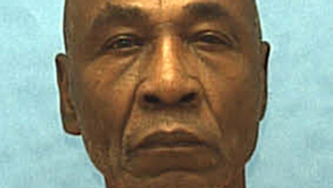 This undated photo made available by the Florida Department of Corrections shows inmate Freddie Lee Hall.