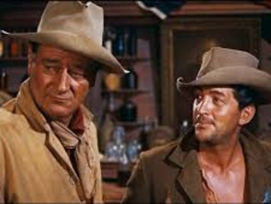 "John Wayne and Dean Martin star in ""Rio Bravo."""