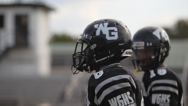 West Gadsden senior receiver Sammy Carter (foreground) and junior quarterback Dentarrius Yon have the Panthers a win away from a 9-1 regular season.