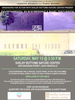 """Organizing for Action will host a viewing of the Fisher Stevens and Leonardo DiCaprio-directed film """"Before the Flood."""""""