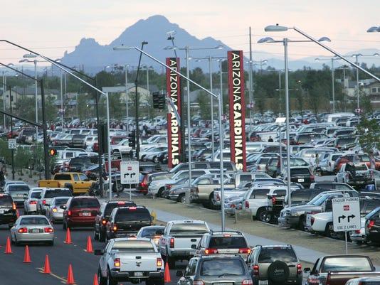 University of Phoenix Stadium traffic