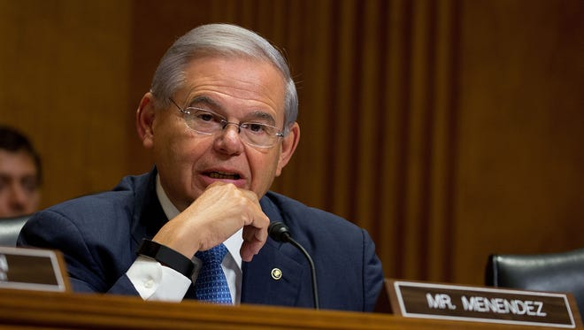 Sen. Bob Menendez attends a hearing on Capitol Hill on July 20, 2017.