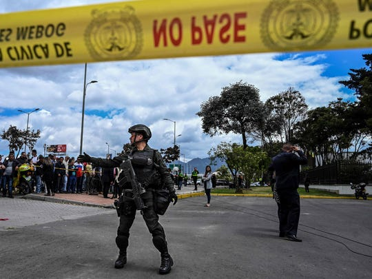 COLOMBIA-EXPLOSION-CAR BOMB