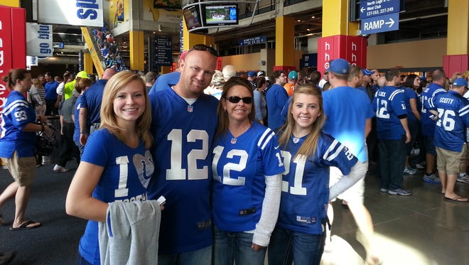 The late Kerry Jellison, second from left, was an avid Colts and Indiana University fan.