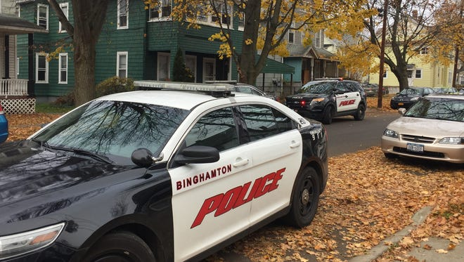 Binghamton police responded to a report of kids stealing from cars Friday, Nov. 18, 2016.