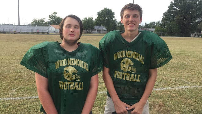 Mason Williams (left) and Wyatt Hunt are Wood Memorial's only seniors on this year's team of 17 players.
