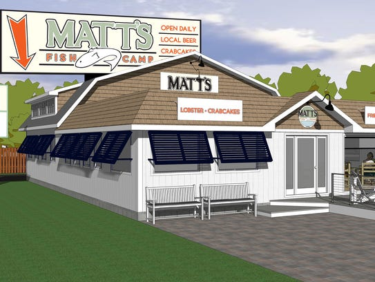A rendering of the second Matt's Fish Camp, set to