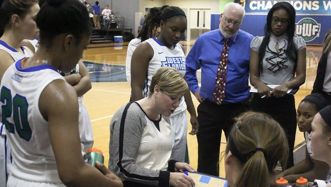 UWF women's basketball coach Stephanie Yelton and her team are off to a 5-0 start after winning Sunday at Auburn-Montgomery in Montgomery.