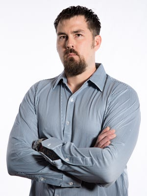 12/5/13 4:10:04 PM -- New York, NY  --  Former NAVY SEAL Marcus Luttrell is portrayed by Mark Wahlberg in the new film 'Lone Survivor,' based on true events.