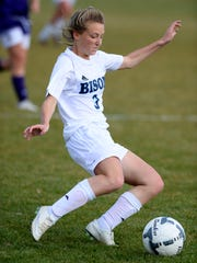 Great Falls High's Quinn Mora makes a pass during Tuesday's match against Butte.