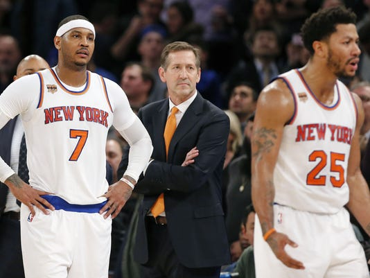Carmelo Anthony, Jeff Hornacek, Derrick Rose