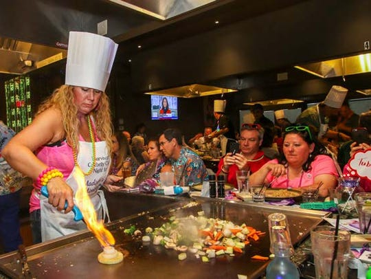 Celebrity Chef Vikki Love demonstrates some of her