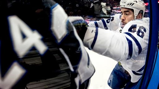 Toronto Maple Leafs may have a dull product to sell at ice level but there is hardly a dull moment away from the playing arena. (AP Photo/The Tampa Bay Times, Dirk Shadd)