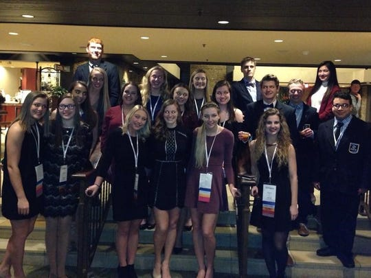 The D.C. Everest DECA team poses for a picture at the