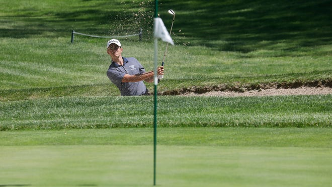 Suffern's High School Alex Kyriacou during the Section 1 boys golf championship at Waccubuc County Club son May 21, 2018.