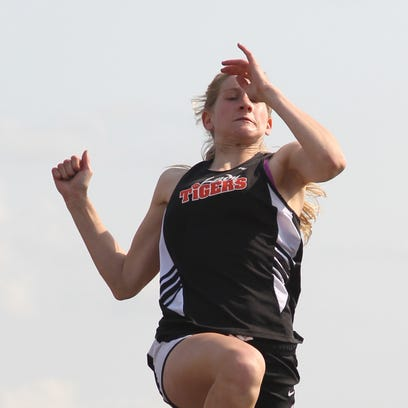 SPASH's Kaitlin Woyak bolts to an early lead in her heat of the 100 meters Wednesday at the WIAA Division 1 regional track meet at Wausau West.
