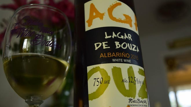REI Albarino was fresh, crisp and acidic with lemon citrus and a hint of stone fruit and passion fruit touched with wet stone.