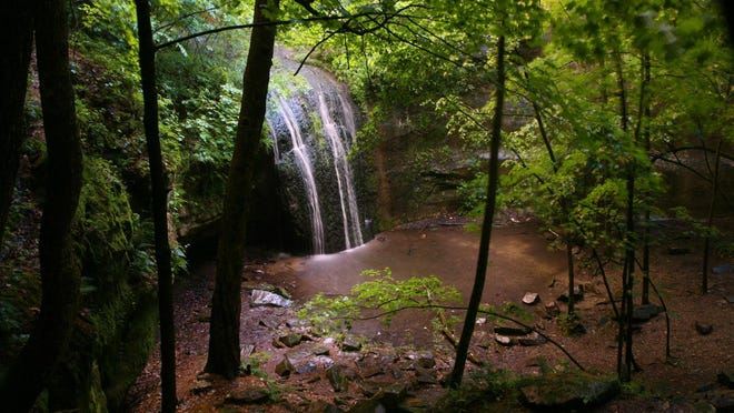 The 20-foot Stephens Falls at Governor Dodge State Park often slows to a trickle during the summer. You can view the waterfall from both an overlook and at its base.