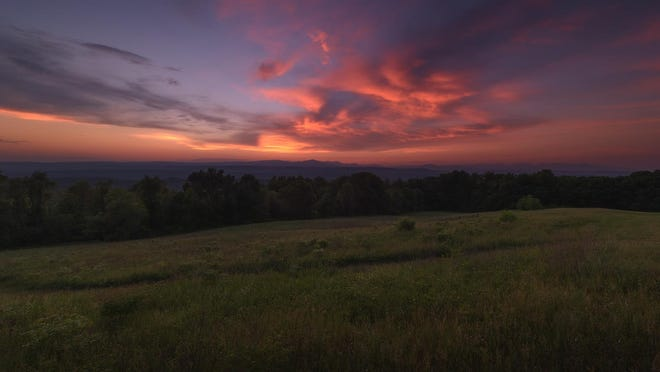 Spring farm sunset at Mohonk Preserve.