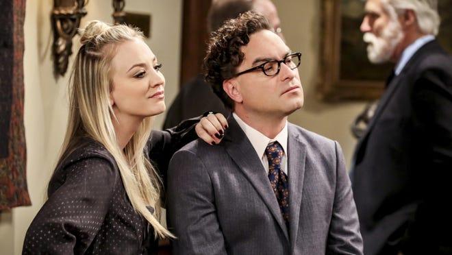 """Kaley Cuoco and Johnny Galecki in """"The Big Bang Theory."""""""