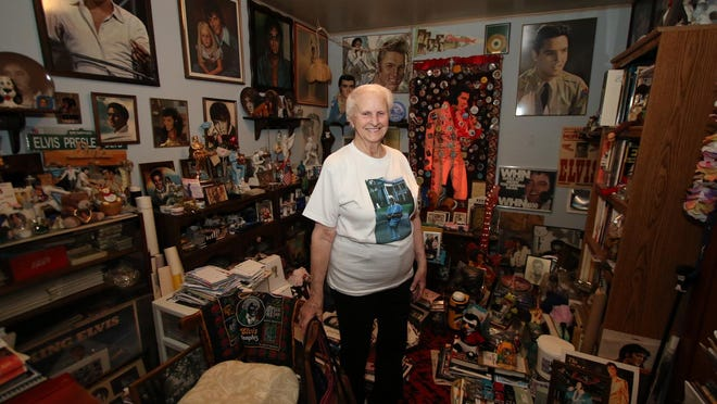 Betty Stokes, 90, is an avid Elvis fan and collector and has Elvis memorabilia all around her house inStone Ridge.