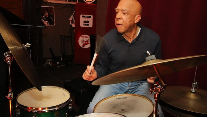 Thurman Barker created melodic joy when he worked the drums as he performed with the Hal Galper Trio at Rafter's Tavern in Callicoon  Jan. 19. Having just celebrated his 72nd birthday, he has no plans of slowing down.