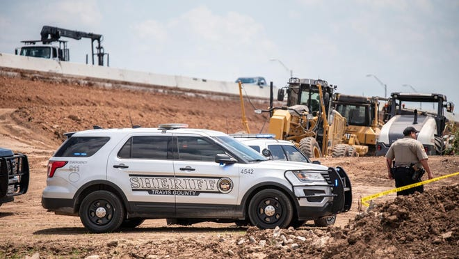 Police investigate a construction vehicle fatality near Texas Highway 130 outside Austin, on Monday, June 8, 2020. The medical examiner and crime scene units were on the scene investigating the scene. Sergio Flores for AMERICAN STATESMAN