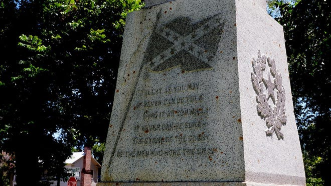 The Confederate monument on the Bastrop courthouse grounds has been a source of controversy.