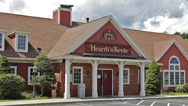The closed Hearth nÓKettle restaurant on Main Street Weymouth which was in business for 23 years on Wednesday August 5, 2020 Greg Derr/The Patriot Ledger