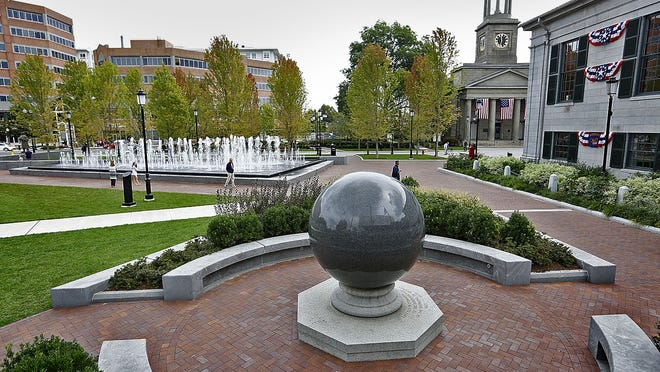 A demonstration in support of the Black Lives Matter movement will take place at the plaza in front of Quincy City Hall Tuesday, June 2, 2020. Greg Derr/ The Patriot Ledger