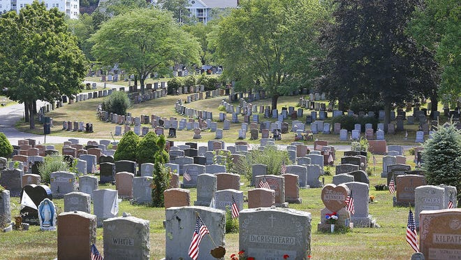 The Pine Hills Cemetery off Willard Street. The City of Quincy, which owns the graveyard, is planning to expand it.
