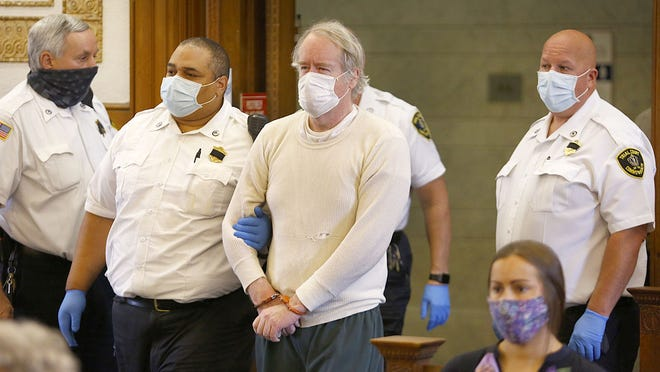 Murder suspect Robert Bonang of Marshfield is arraigned in Dedham Superior Court for murder of Laurie Melchionda in Braintree  on September 10, 2020  Greg Derr/ The Patriot Ledger