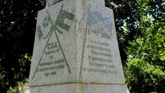 The Confederate monument on the Bastrop County Courthouse grounds has been the source of controversy as some residents are advocating for its removal and others want it to remain in place.
