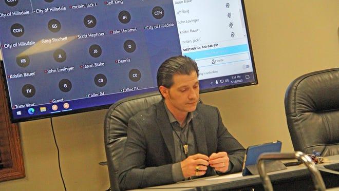 Mayor Adam Stockford during a previous city council meeting.