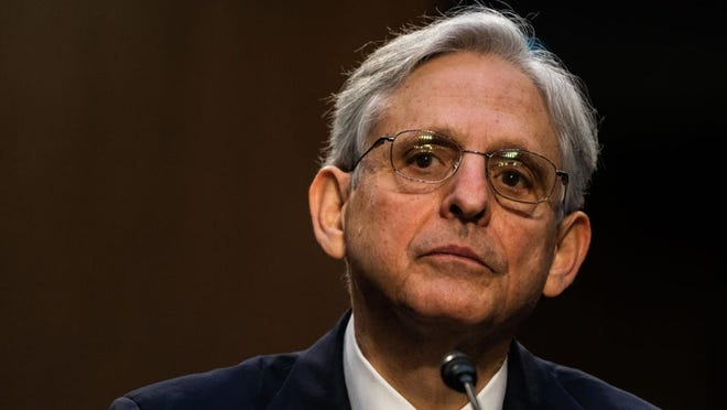 U.S. Attorney General nominee Merrick Garland speaks during his confirmation hearing in the Senate Judiciary Committee on Capitol Hill on Feb. 22, 2021, in Washington, D.C. (Demetrius Freeman/Pool/Getty Images/TNS)