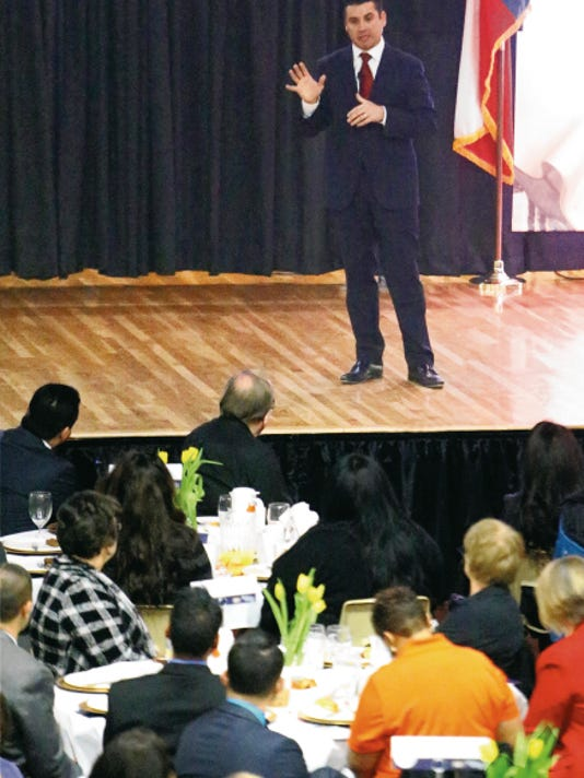 """Ysleta Independent School District Superintendent Xavier De La Torre gave his state-of-the-district presentation to staff, faculty and guests Friday at the YISD headquarters, saying the district is at a """"crossroads."""""""