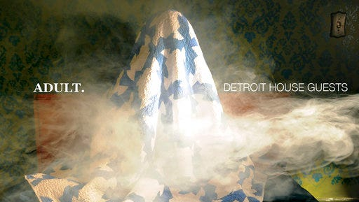 """This cover image released by Mute shows """"Detroit House Guests,"""" the latest release by Adult."""