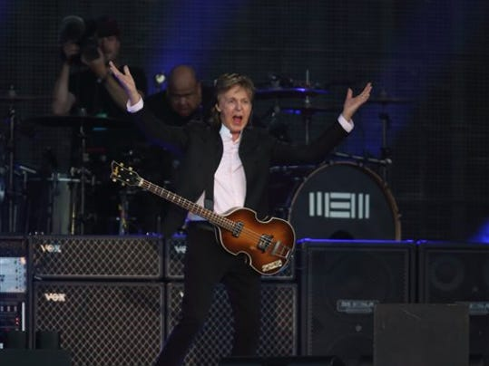 Paul McCartney performs at the Lollapalooza Music Festival in Grant Park on Friday, July 31, 2015, in Chicago.