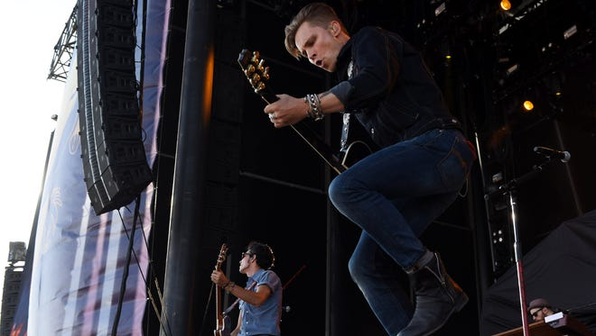 Frankie Ballard performs on the main stage at Faster Horses.