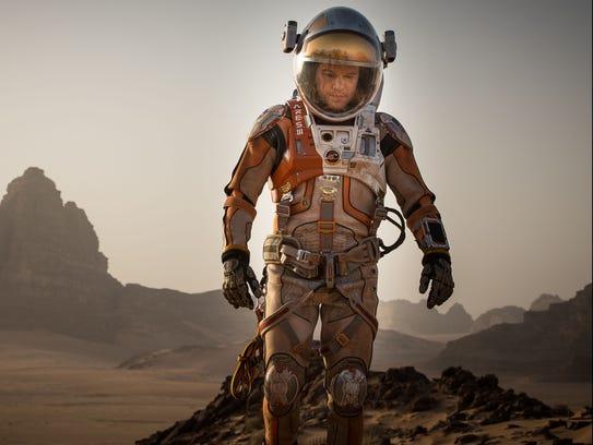 Matt Damon is stuck in space in 'The Martian.'