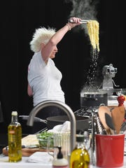 Chef Anne Burrell, whose passion is Italian food, says she has recently adapted a healthier lifestyle and has lost some weight.