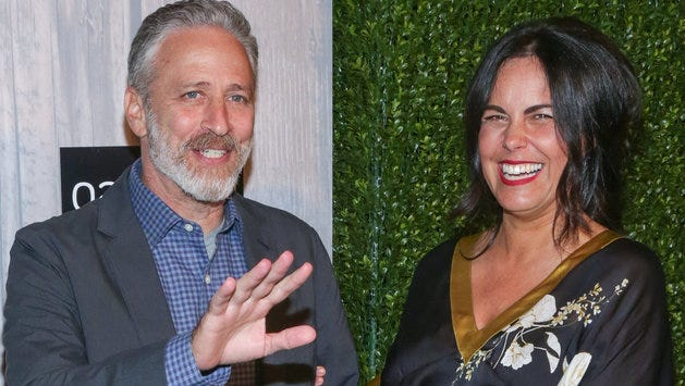Jon and Tracey Stewart at Saturday's announcement.