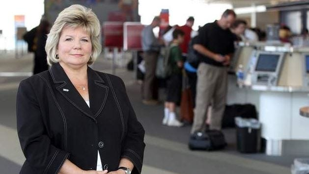 """Cincinnati/Northern Kentucky International Airport CEO Candace McGraw calls CVG's declining airfares a """"big win for both the airport and the community."""""""