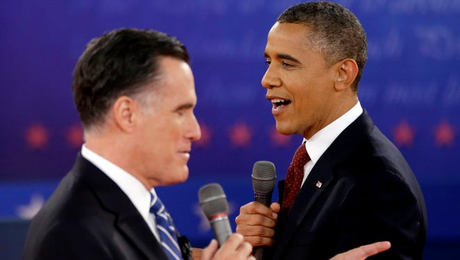 President Obama and Mitt Romney during the 2012 campaign.