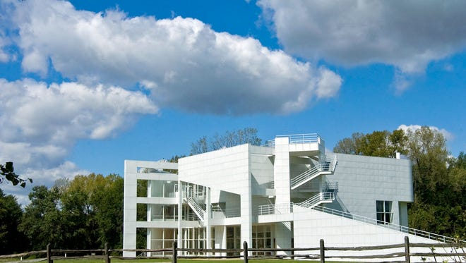 New Harmony's Atheneum was designed by internationally acclaimed architect Richard Meier and serves as the town's visitors' center.
